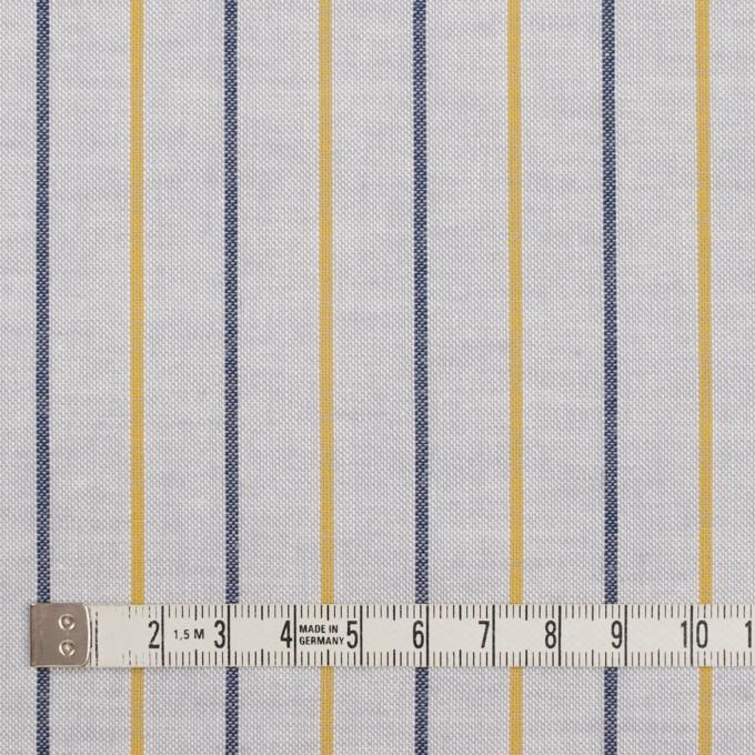 コットン×ストライプ(ライトグレー、イエロー&ネイビー)×オックスフォード イメージ4