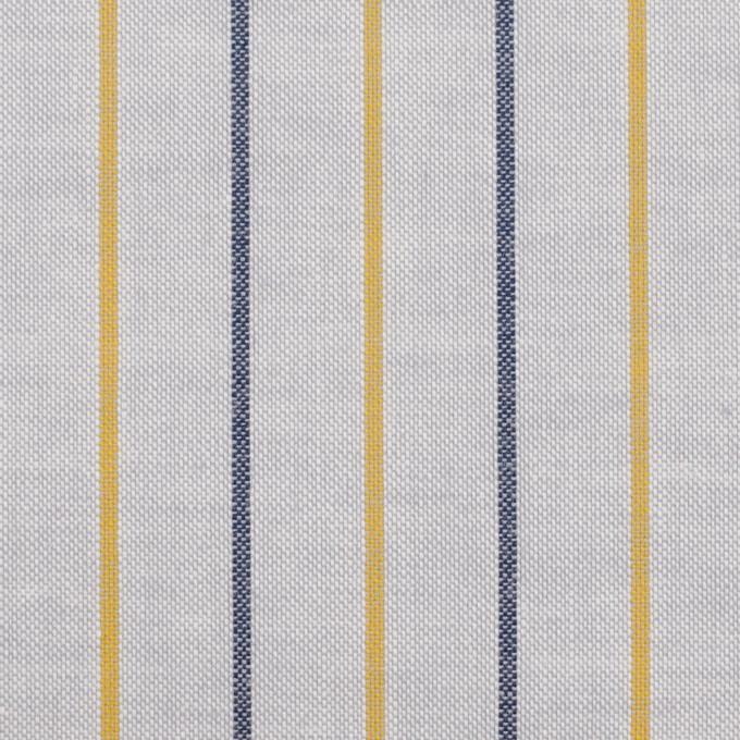 コットン×ストライプ(ライトグレー、イエロー&ネイビー)×オックスフォード イメージ1