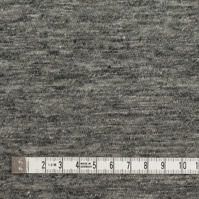 リネン×無地(チャコールグレー)×天竺ニット_全2色 イメージ4