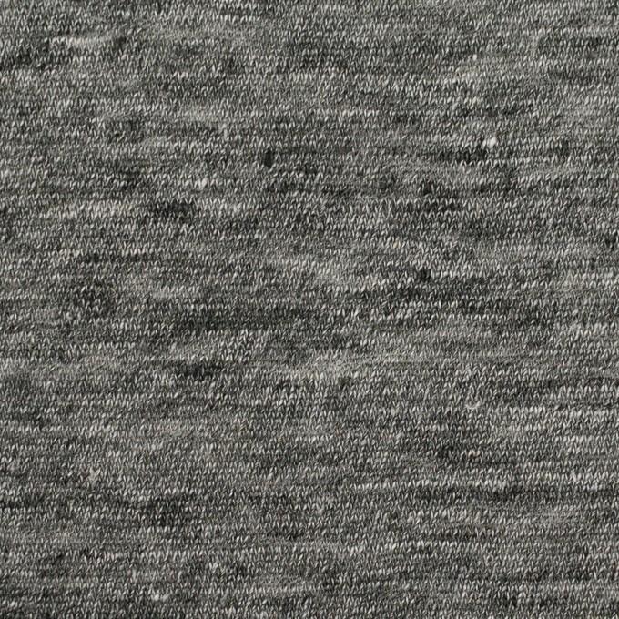 リネン×無地(チャコールグレー)×天竺ニット_全2色 イメージ1