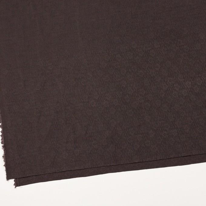 リネン&シルク×幾何学模様(ココア)×ジャガード_全2色_イタリア製 イメージ2