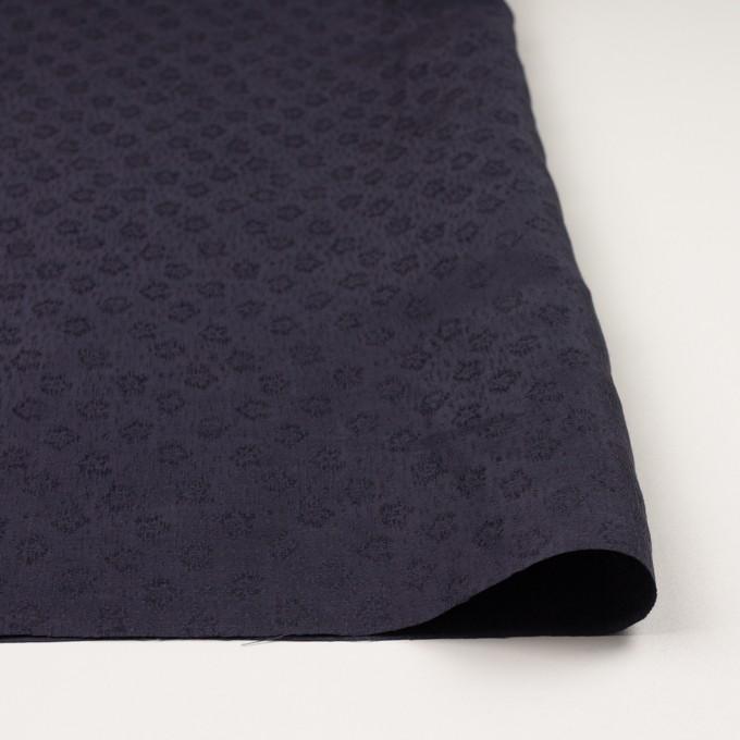 リネン&シルク×幾何学模様(グレープ)×ジャガード_全2色_イタリア製 イメージ3