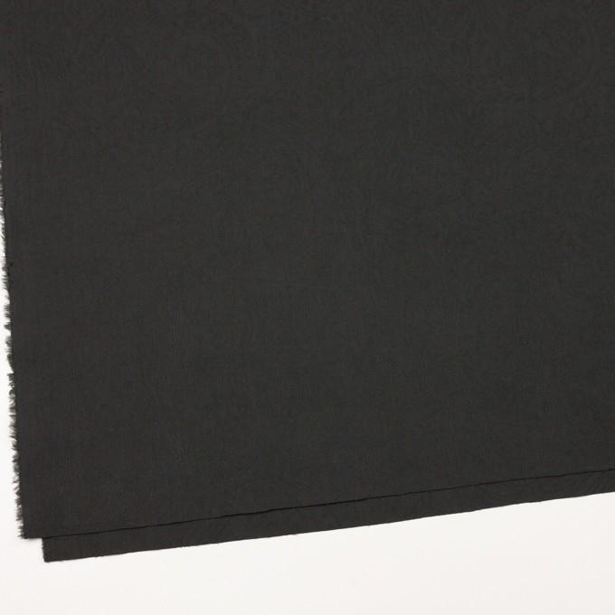 コットン×ペイズリー(チャコール)×ジャガード_イタリア製 イメージ2