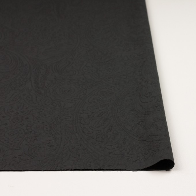 コットン×ペイズリー(チャコール)×ジャガード_イタリア製 イメージ3