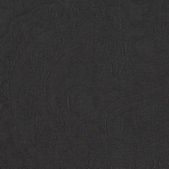 コットン×ペイズリー(チャコール)×ジャガード_イタリア製