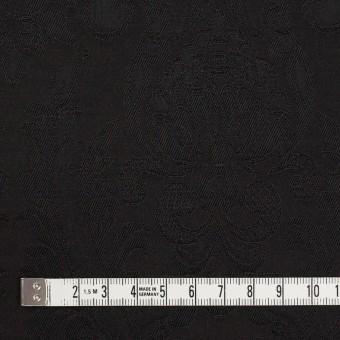 レーヨン&アセテート×幾何学模様(ダークブラウン)×サテンジャガード_イタリア製 サムネイル4