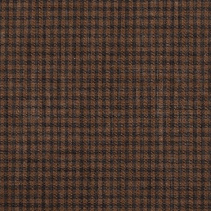 コットン×チェック(モカブラウン)×ボイル_全4色 イメージ1