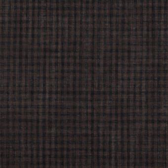 コットン×チェック(ココア)×ボイル_全4色 サムネイル1