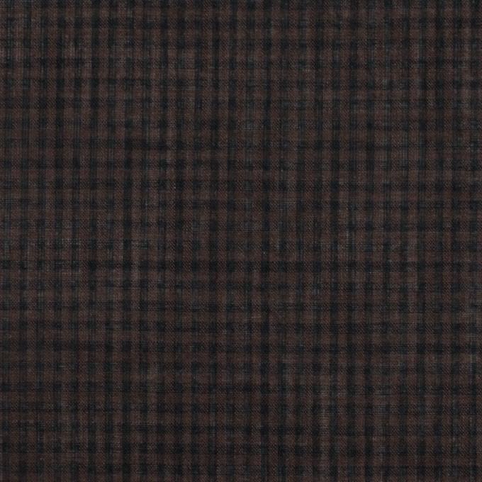 コットン×チェック(ココア)×ボイル_全4色 イメージ1