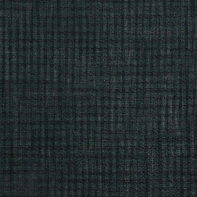 コットン×チェック(モスグリーン)×ボイル_全4色 イメージ1