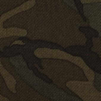 コットン&ポリウレタン×迷彩(カーキ)×チノクロス・ストレッチ サムネイル1