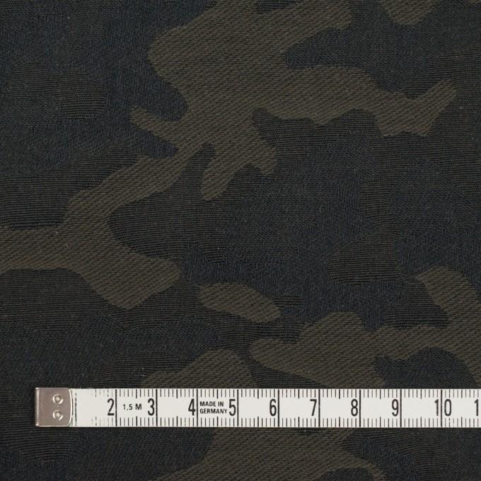 コットン×迷彩(カーキグリーン)×ジャガード イメージ4