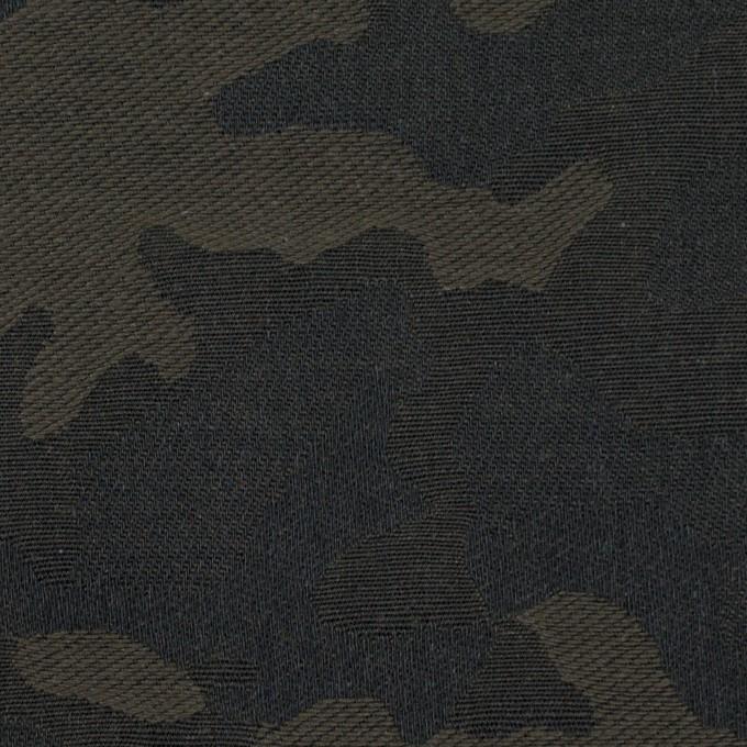 コットン×迷彩(カーキグリーン)×ジャガード イメージ1