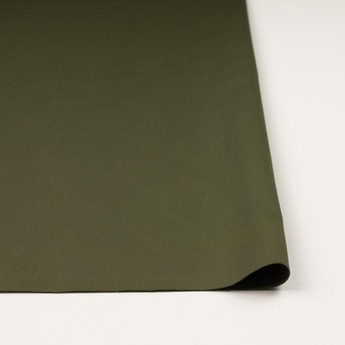 コットン×無地(カーキグリーン)×サテン イメージ3