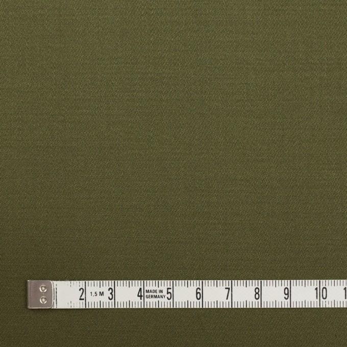 コットン×無地(カーキグリーン)×サテン イメージ4