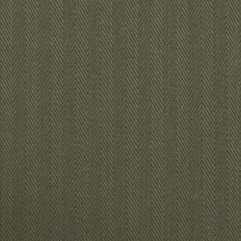コットン×無地(カーキグリーン)×ヘリンボーン サムネイル1