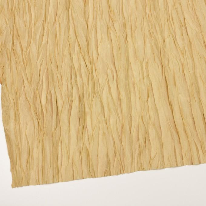 シルク&ポリエステル×無地(イエローゴールド)×オーガンジー(プリーツ加工)_イタリア製 イメージ2