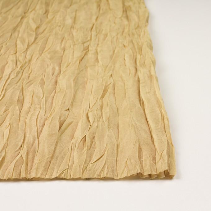 シルク&ポリエステル×無地(イエローゴールド)×オーガンジー(プリーツ加工)_イタリア製 イメージ3