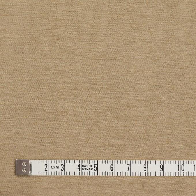リネン&ビスコース×無地(カーキベージュ)×シャンタン_イタリア製 イメージ4