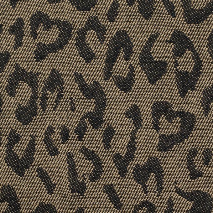 コットン×レオパード(カーキベージュ)×ジャガード_全4色 イメージ1