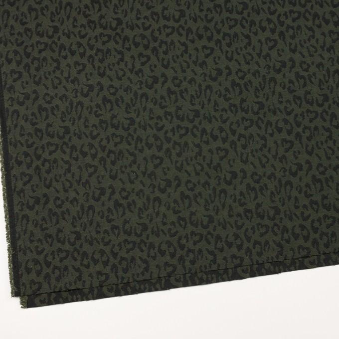コットン×レオパード(モスグリーン)×ジャガード_全4色 イメージ2