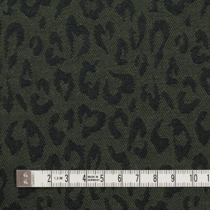 コットン×レオパード(モスグリーン)×ジャガード_全4色 イメージ4