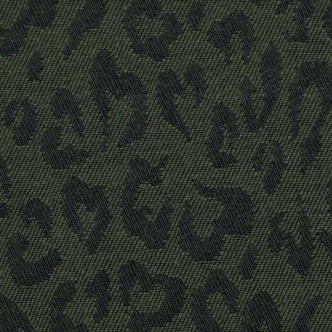 コットン×レオパード(モスグリーン)×ジャガード_全4色 イメージ1