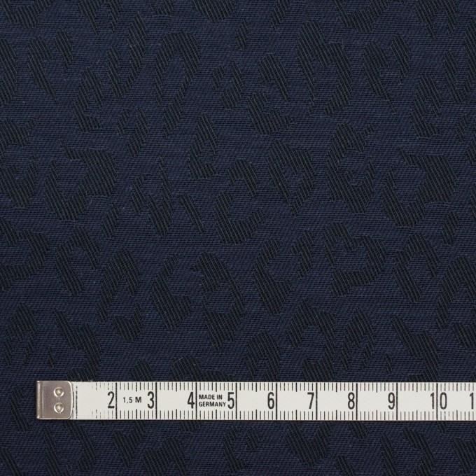 コットン×レオパード(ネイビー)×ジャガード_全4色 イメージ4