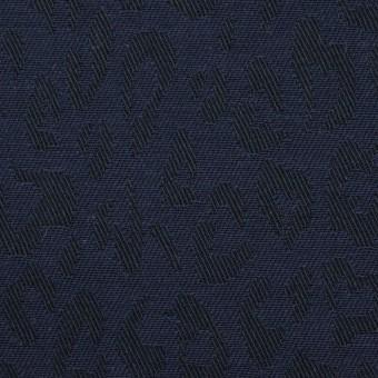 コットン×レオパード(ネイビー)×ジャガード_全4色 サムネイル1