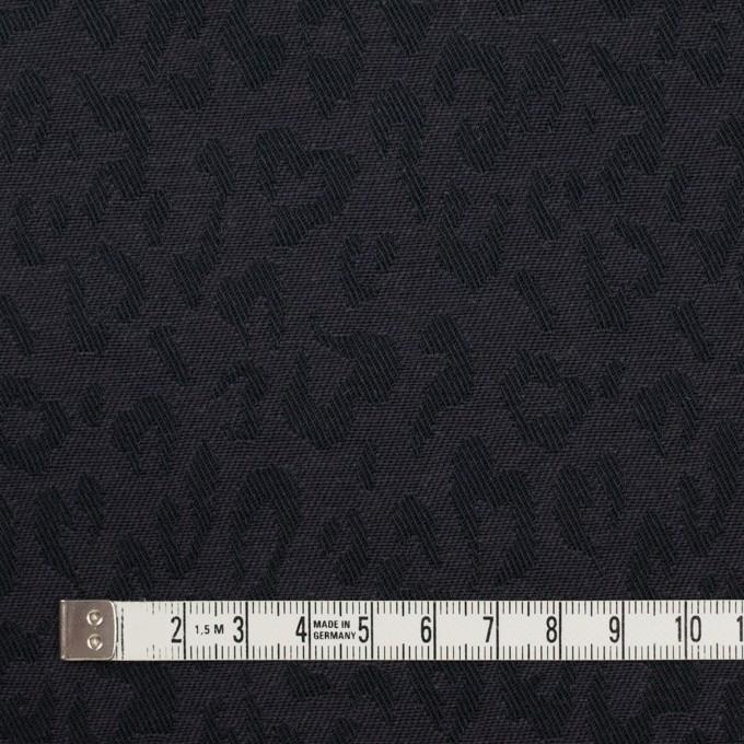 コットン×レオパード(チャコール)×ジャガード_全4色 イメージ4