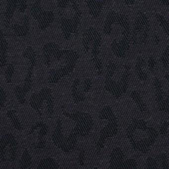 コットン×レオパード(チャコール)×ジャガード_全4色 サムネイル1