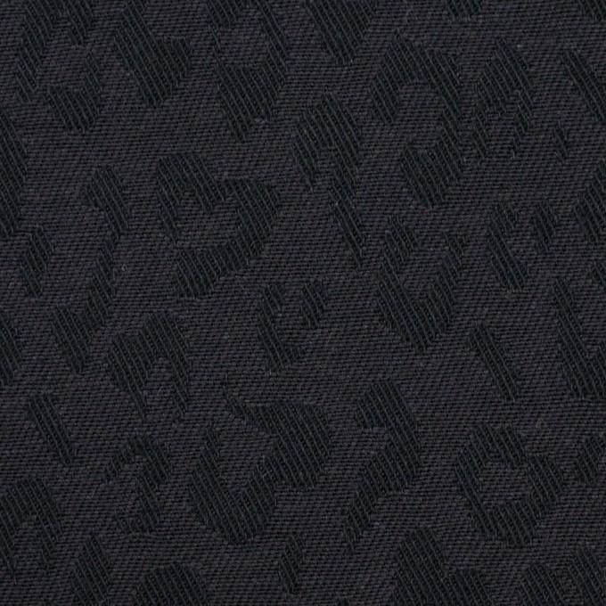 コットン×レオパード(チャコール)×ジャガード_全4色 イメージ1