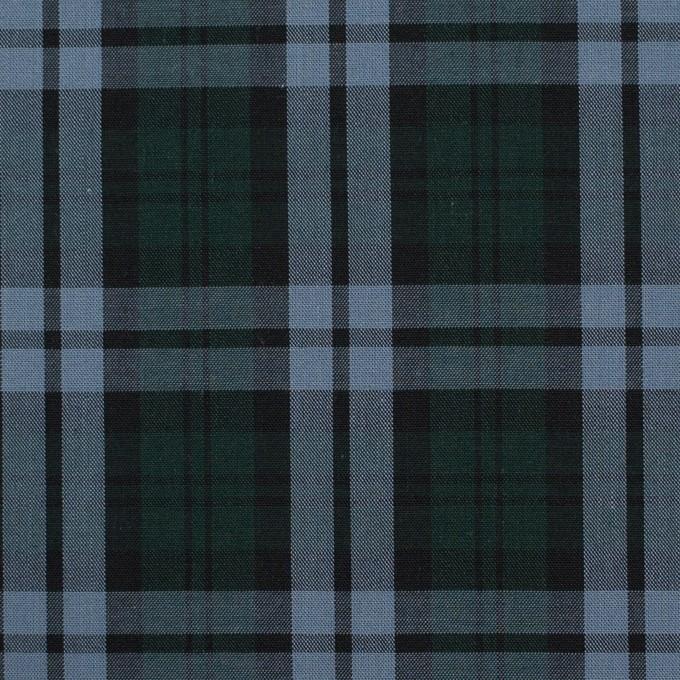 コットン×チェック(モスグリーン&ブルーグレー)×ローン イメージ1