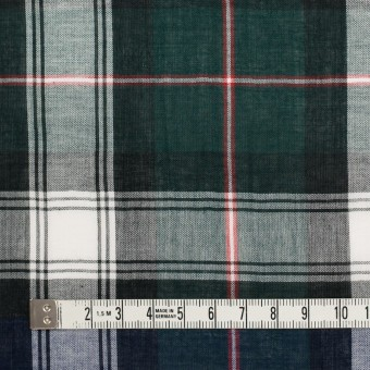 コットン×チェック(モスグリーン&ネイビー)×ボイルワッシャー サムネイル4