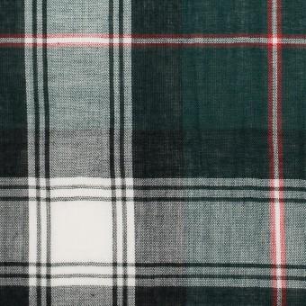 コットン×チェック(モスグリーン&ネイビー)×ボイルワッシャー サムネイル1