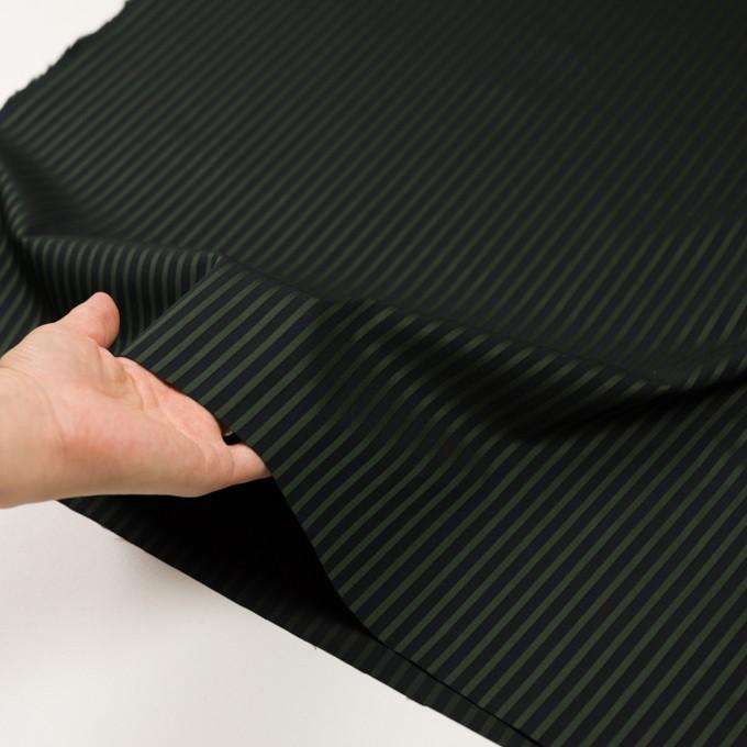 コットン×ストライプ(モスグリーン&ブラック)×ブロードジャガード_全2色 イメージ5