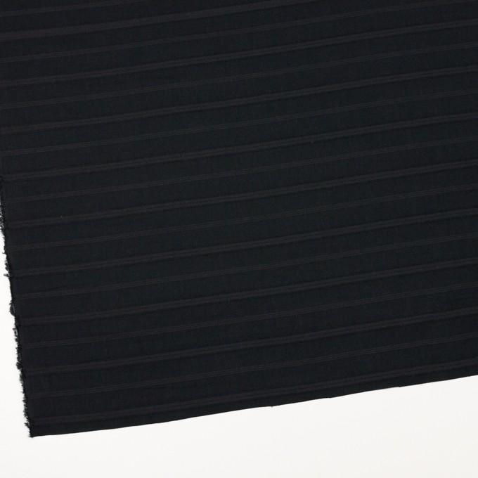 コットン×ボーダー(チャコールブラック)×ボイルジャガード イメージ2