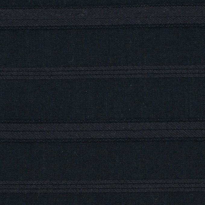 コットン×ボーダー(チャコールブラック)×ボイルジャガード イメージ1