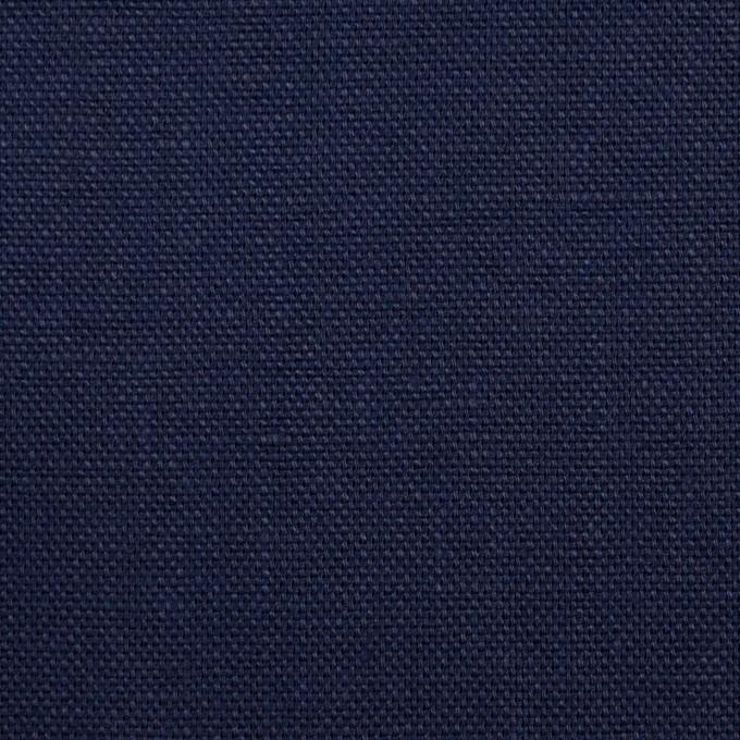 リネン×無地(ネイビー)×オックスフォード_全4色 イメージ1
