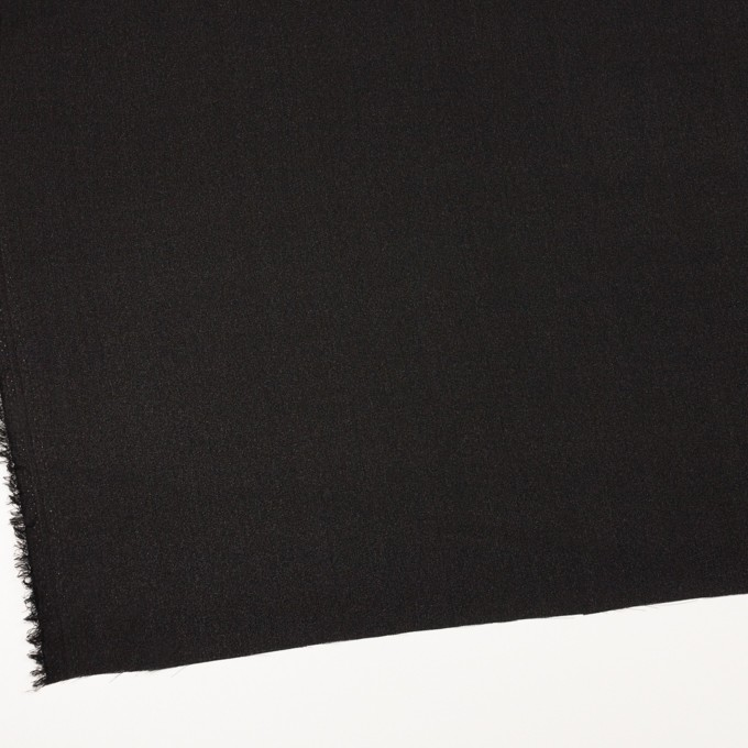 シルク×無地(ブラック)×ジョーゼット_イタリア製 イメージ2