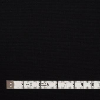 ウール&ポリウレタン×無地(ブラック)×ポプリンストレッチ_イタリア製 サムネイル4