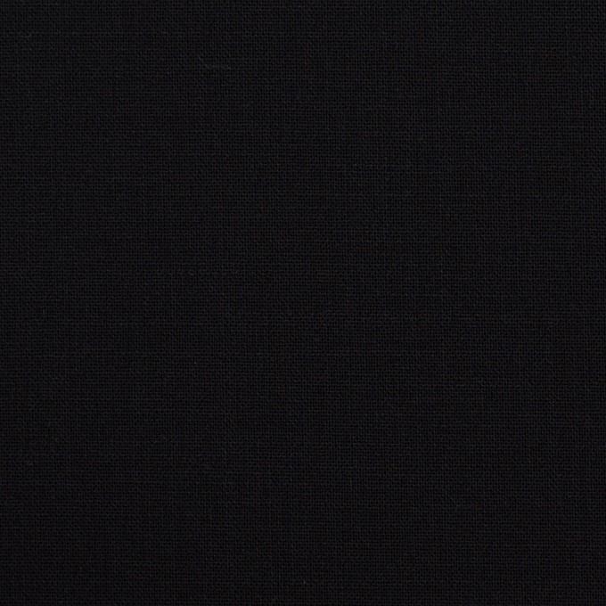 ウール&ポリウレタン×無地(ブラック)×ポプリンストレッチ_イタリア製 イメージ1