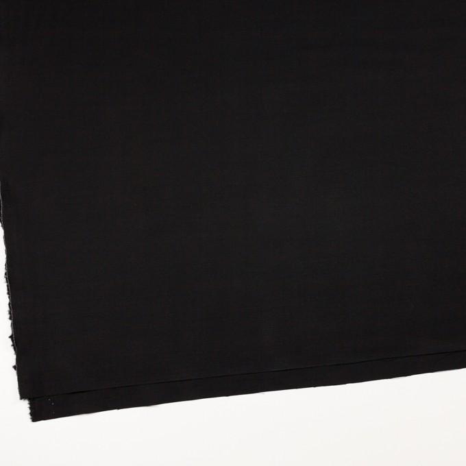 レーヨン&ウール×無地(ブラック)×サージ イメージ2
