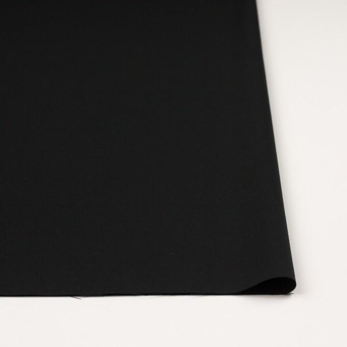 レーヨン&ウール×無地(ブラック)×サージ イメージ3