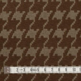 ポリエステル&コットン×幾何学模様(カーキブラウン)×ジャガードニット サムネイル4