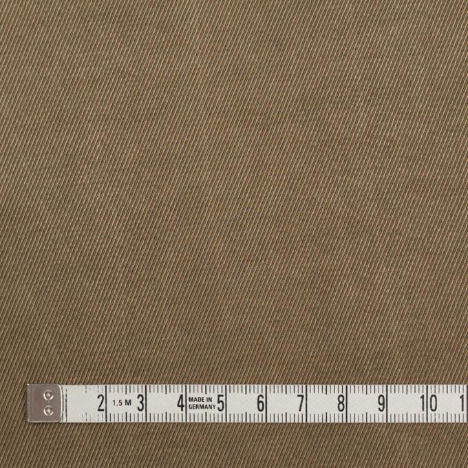 コットン&ビスコース混×無地(ブロンズ)×サージストレッチ_イタリア製 イメージ4
