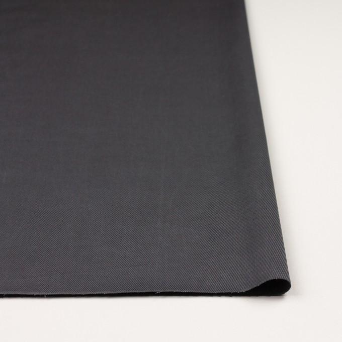 コットン&ビスコース混×無地(スチールグレー)×サージストレッチ_イタリア製 イメージ3
