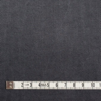 コットン&ビスコース混×無地(スチールグレー)×サージストレッチ_イタリア製 サムネイル4