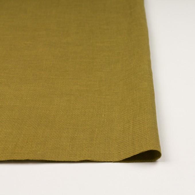 リネン×無地(アンティークゴールド)×かわり織 イメージ3