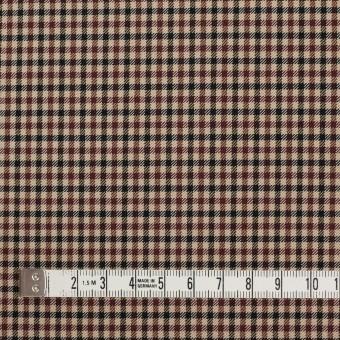 ナイロン&ポリエステル混×チェック(モカブラウン)×サージストレッチ_イタリア製 サムネイル4